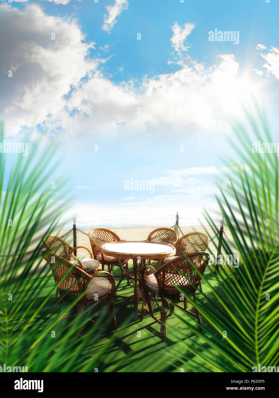 Bambusmöbel Terrasse Bamboo Beach Chair Photos Bamboo Beach Chair Images Alamy