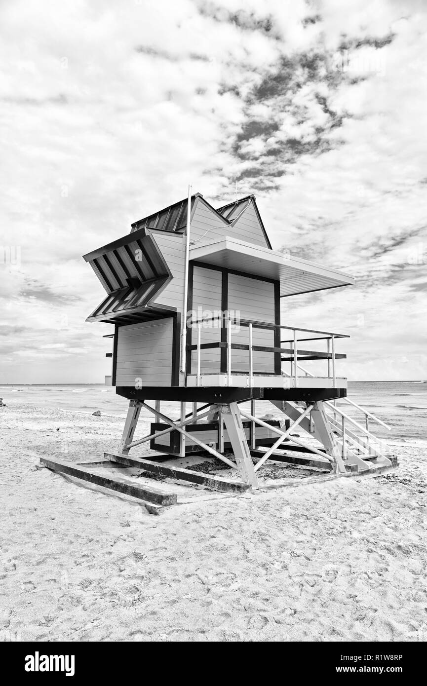 Deco Maison Usa Lifeguard Maison Sur Le Sable Plage à Miami Usa Baywatch Tower