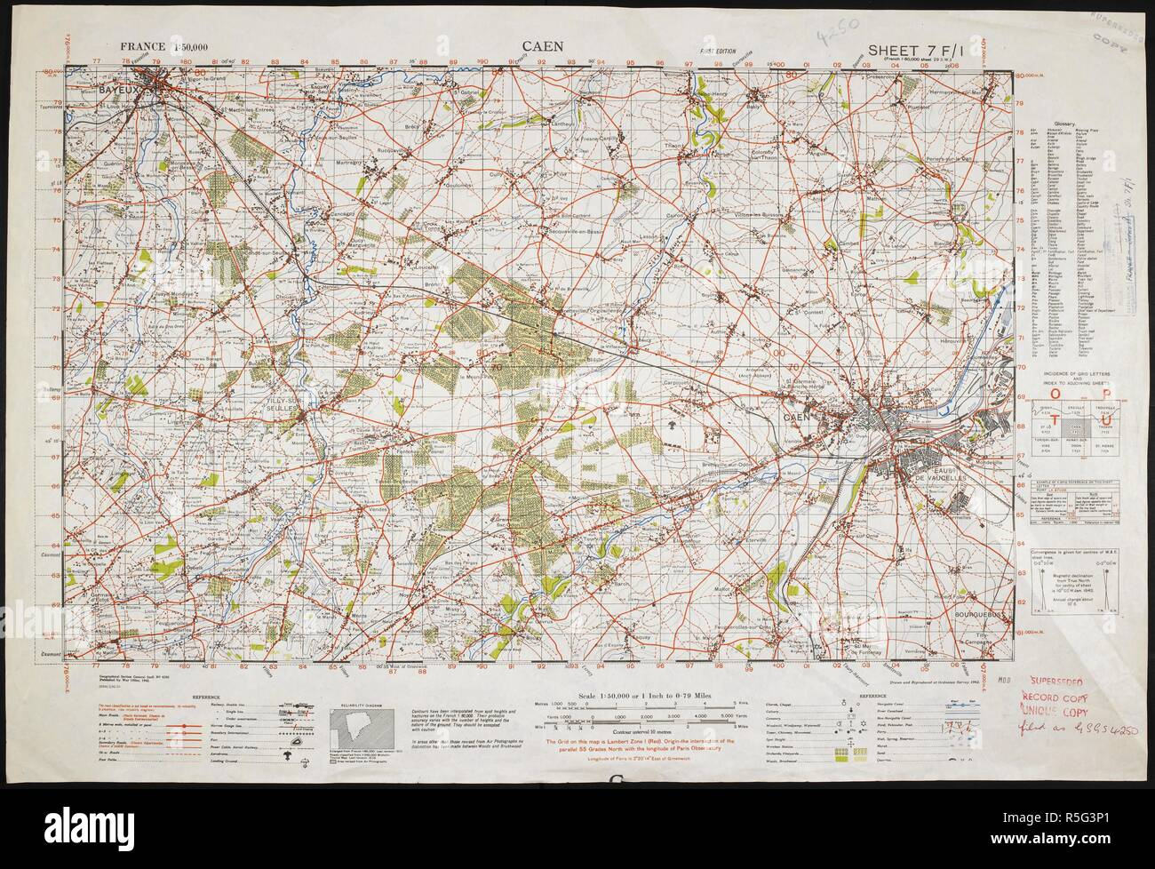 Caen France Carte Map Caen France Photos Map Caen France Images Alamy