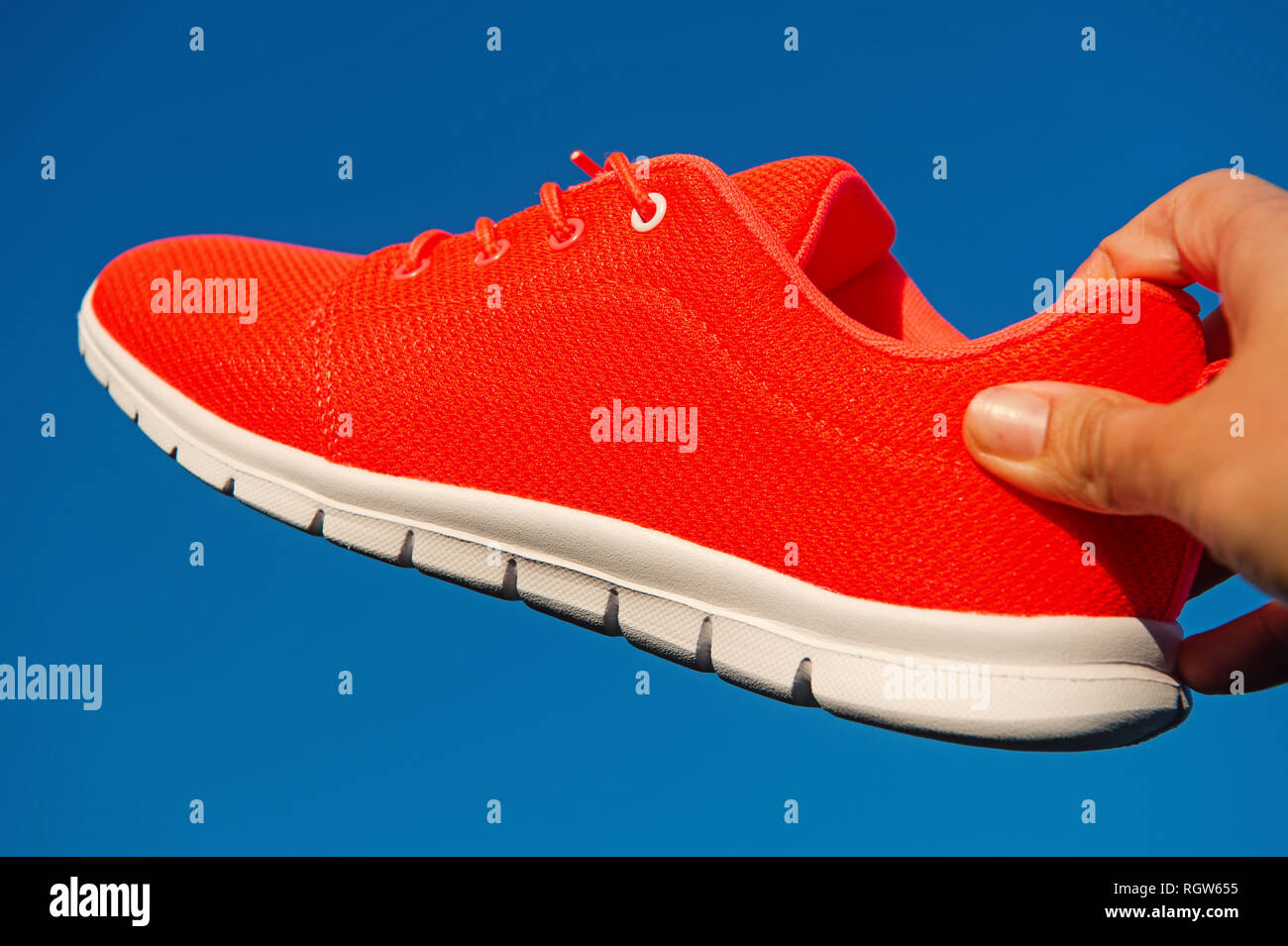 Terrasse Du Port Nike Orange Shoe Photos Orange Shoe Images Alamy