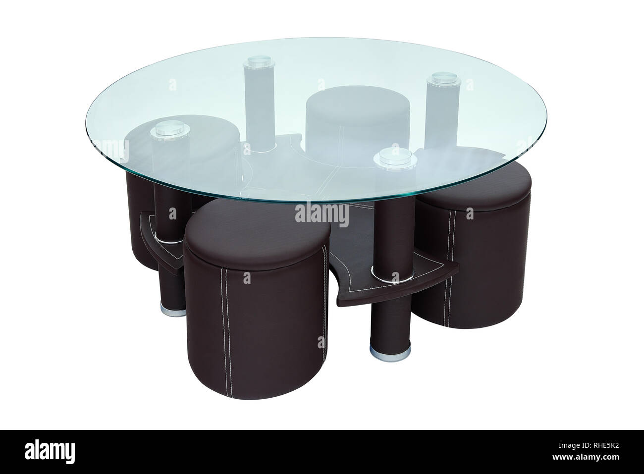 Table Basse Ronde Avec 4 Tabourets Metal And Wood Stool Photos Metal And Wood Stool Images Alamy