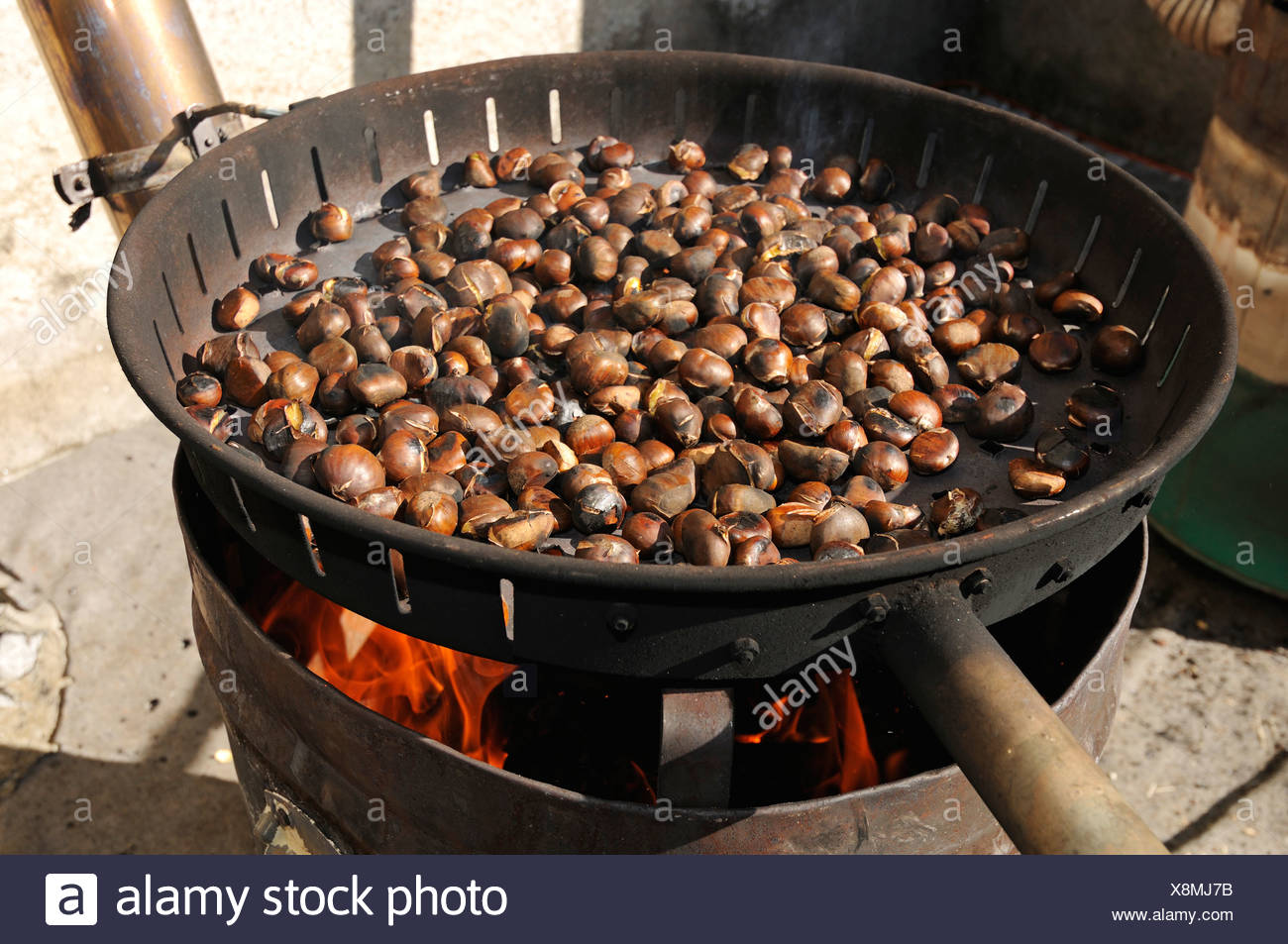 Chataigne A La Cheminée Chestnuts Fire Photos And Chestnuts Fire Images Alamy