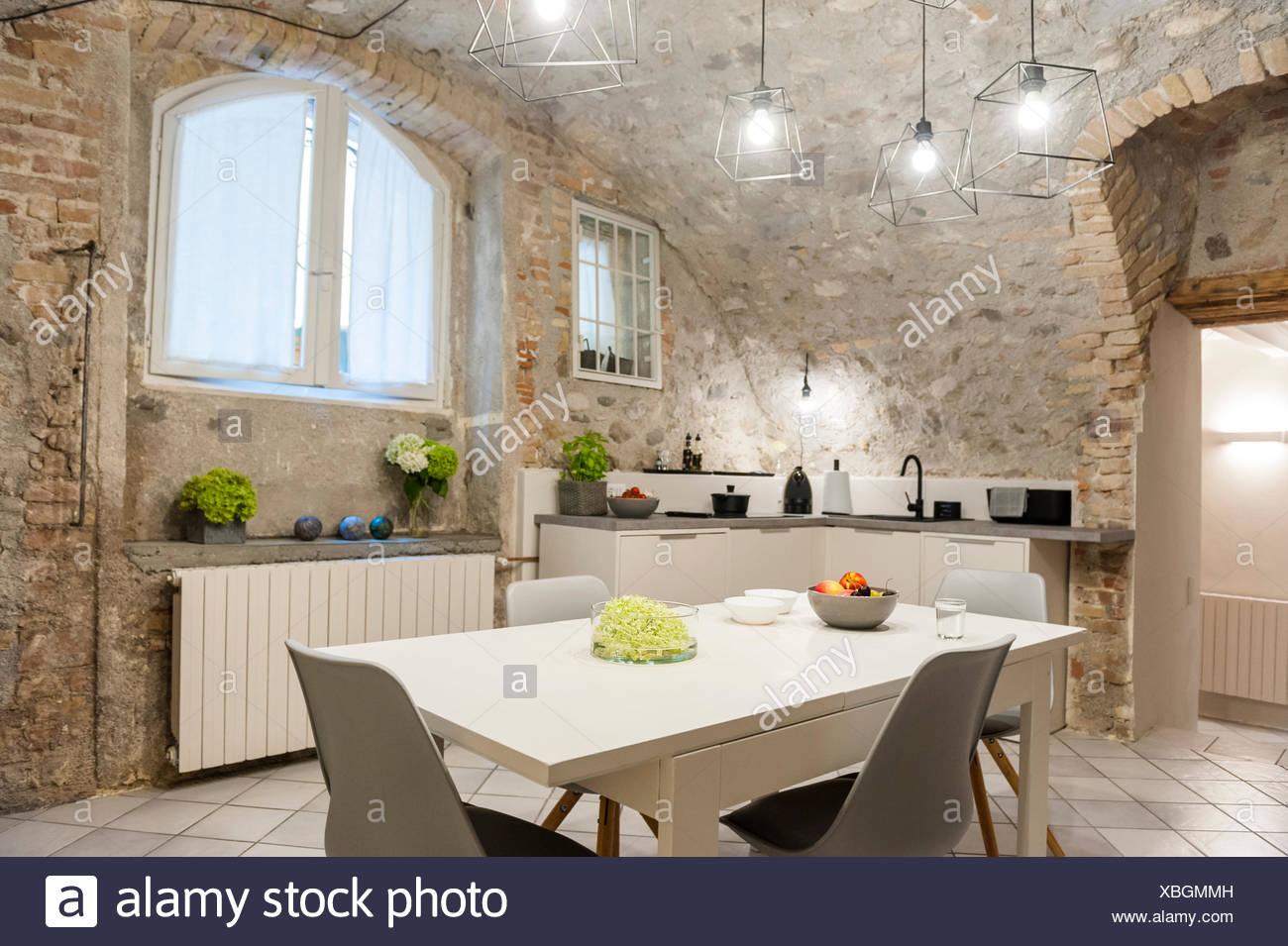 Cuisine Moderne Dans Maison Ancienne   Renovation Maison Ancienne ...