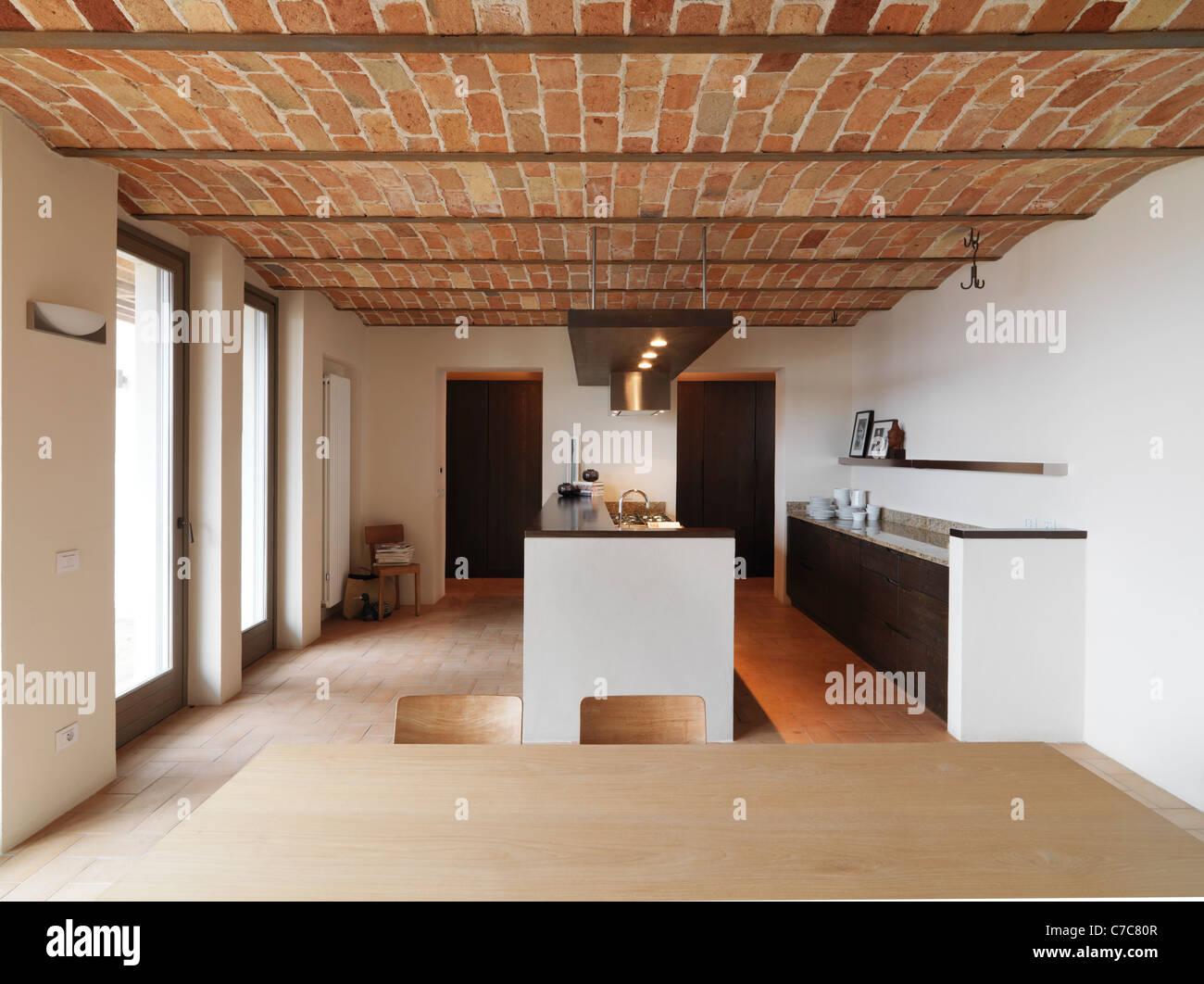 Cucina moderna ambiente rustico foto cucina soggiorno rustico