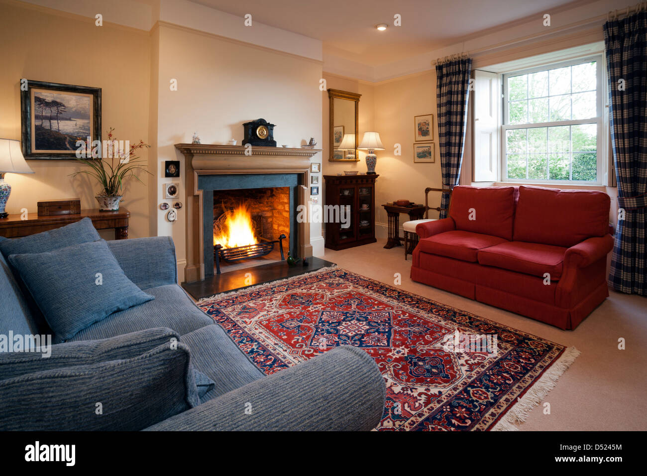 Caminetto In English English Lounge Room With Fire Immagini English Lounge Room With