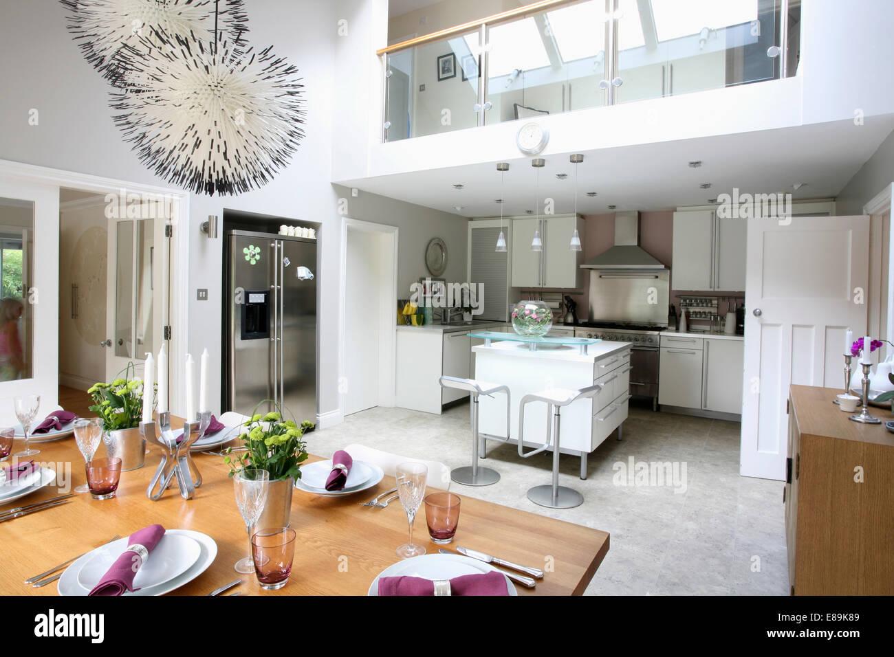 Sala e cucina moderna tavolo moderno bianco messico mobile per