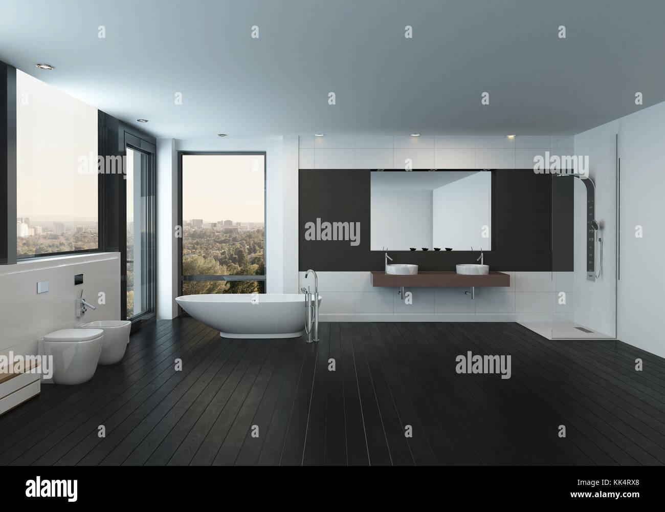 Bagno design nero mobili bagno neri bagno bianco e nero with