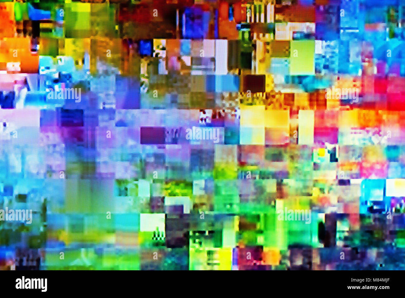 Tv Digitale La Tv Digitale Glitch Sullo Schermo Del Televisore Con Piazze