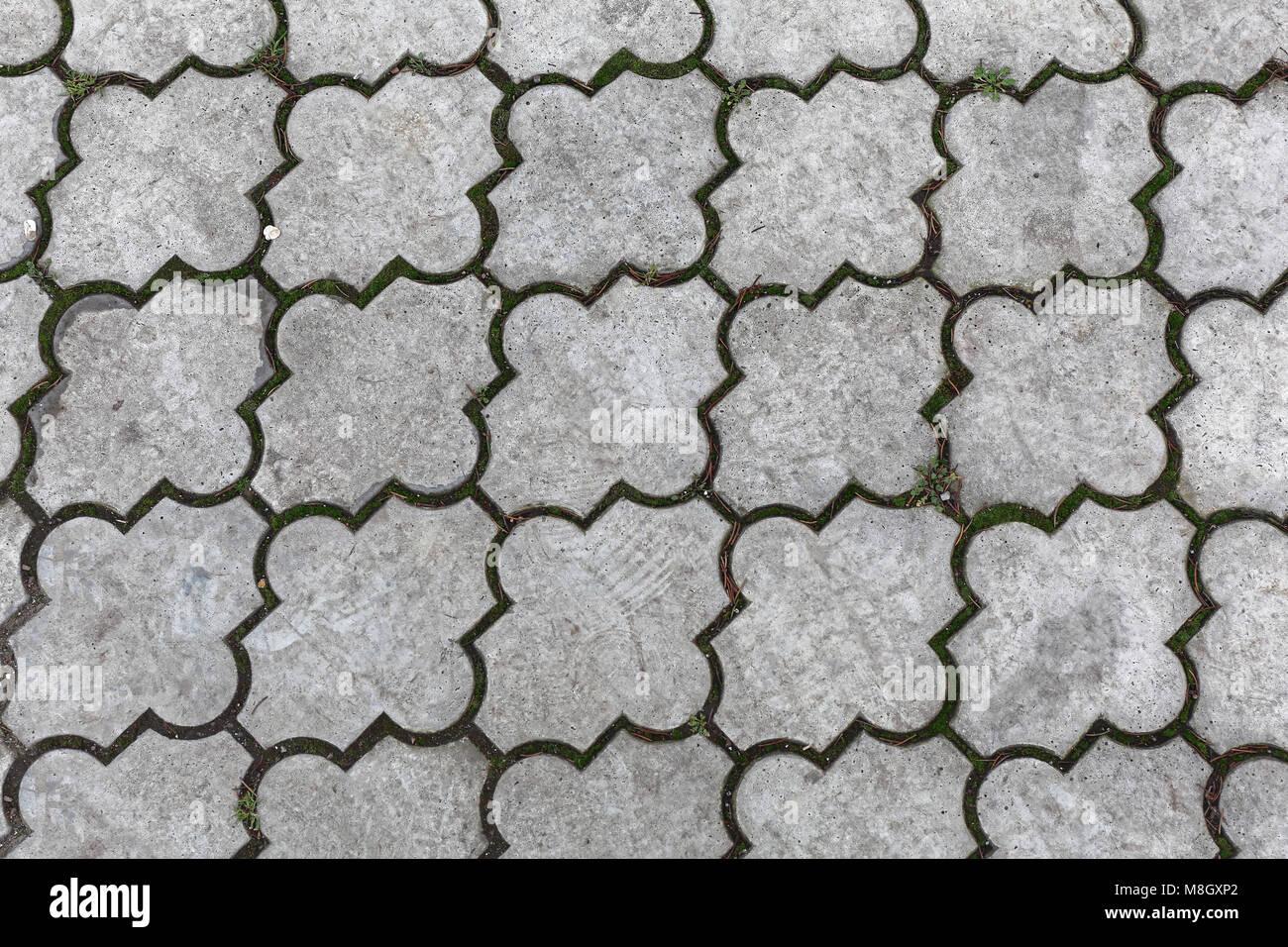 Texture pavimenti esterni per esterni in cemento stampato