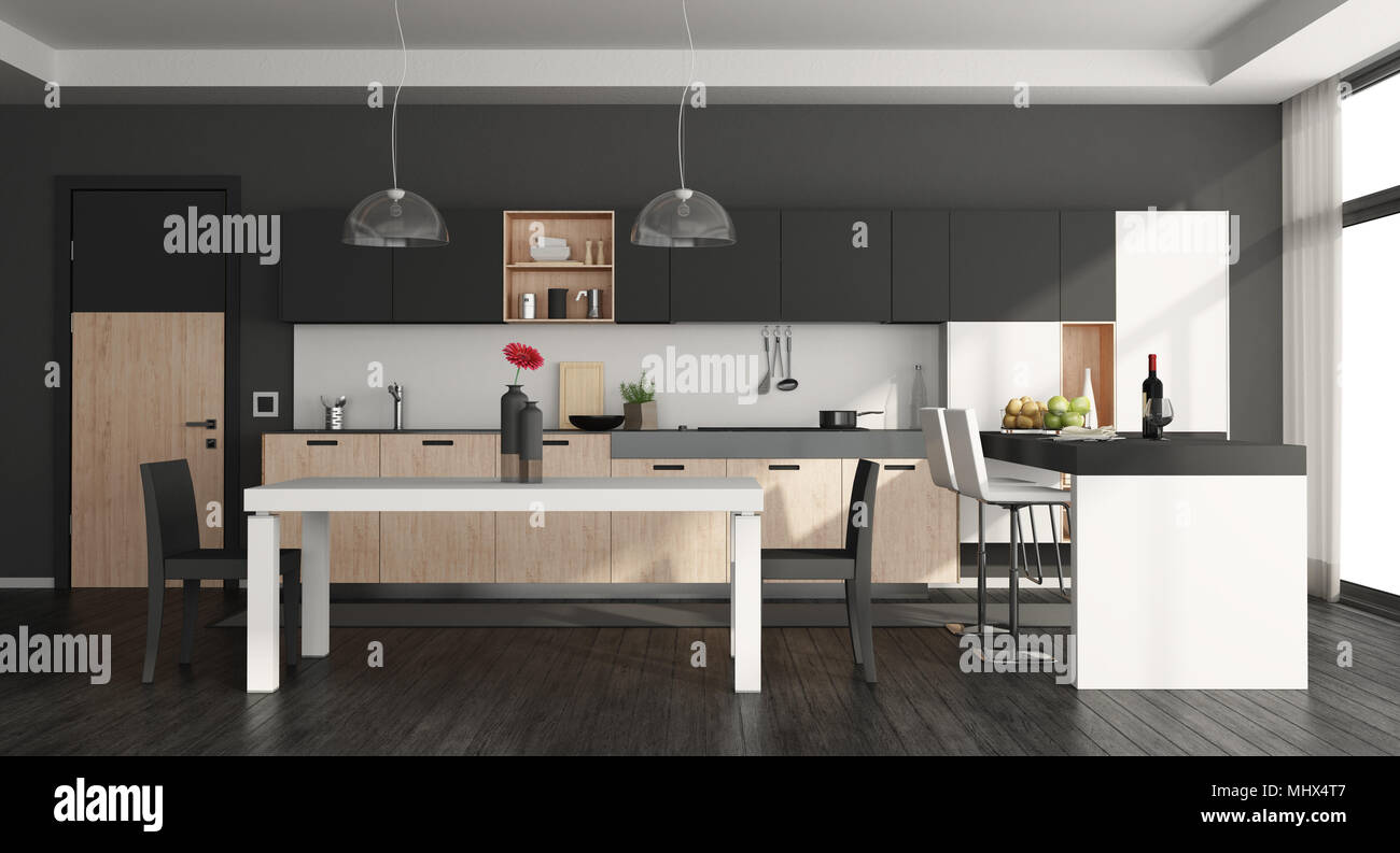 Cucina Moderna Con Isola E Tavolo   Cucina Con Isola E Tavolo 20 ...
