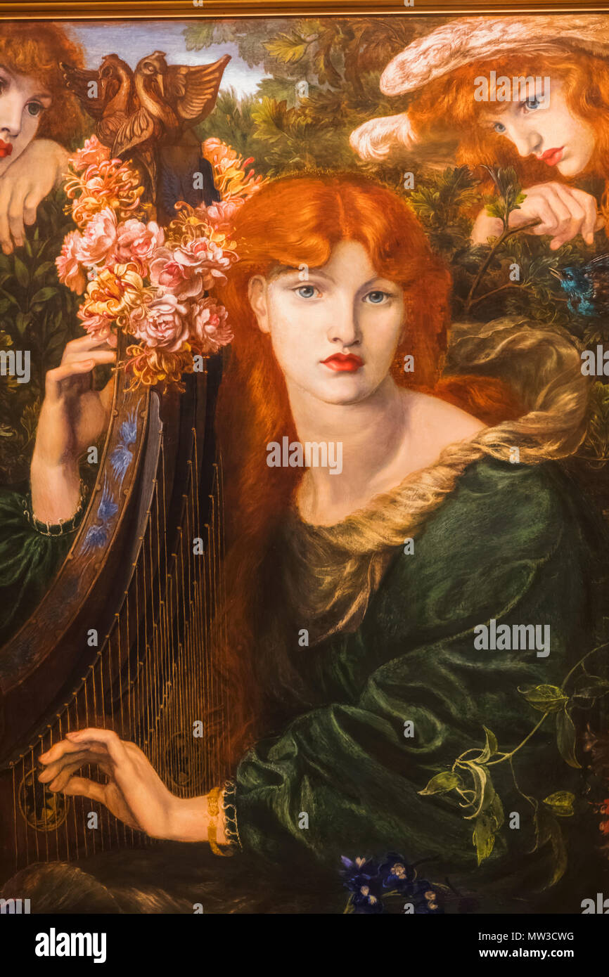 Pittura Per Interni Rossetti Inghilterra Londra City Of London Guildhall Guildhall Art Museum