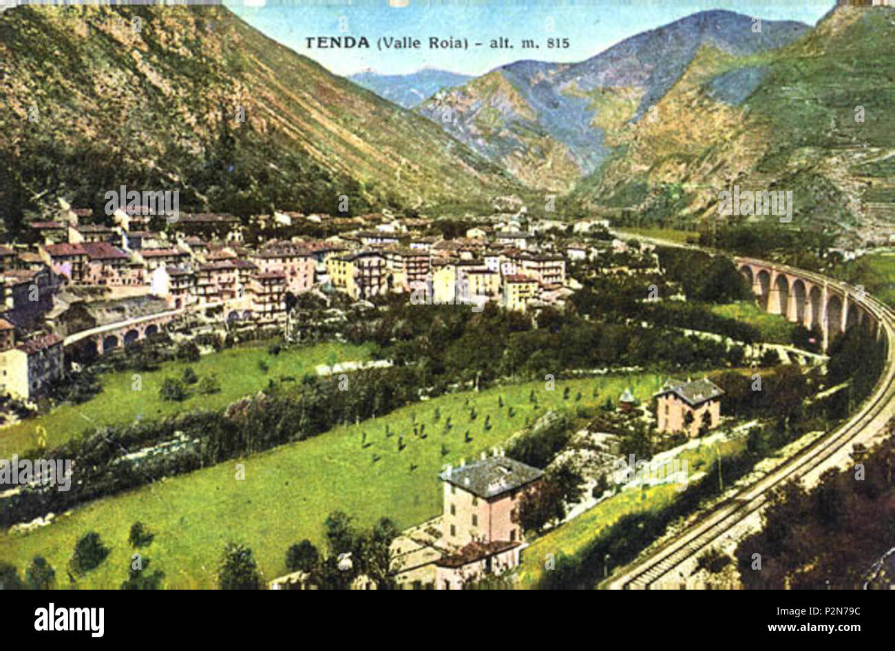 Inglese Vista Della Tenda Italia Ora Tende Francia Nel 1938 1938 Unknown 68 Panorama Tenda 1938 Foto Stock Alamy