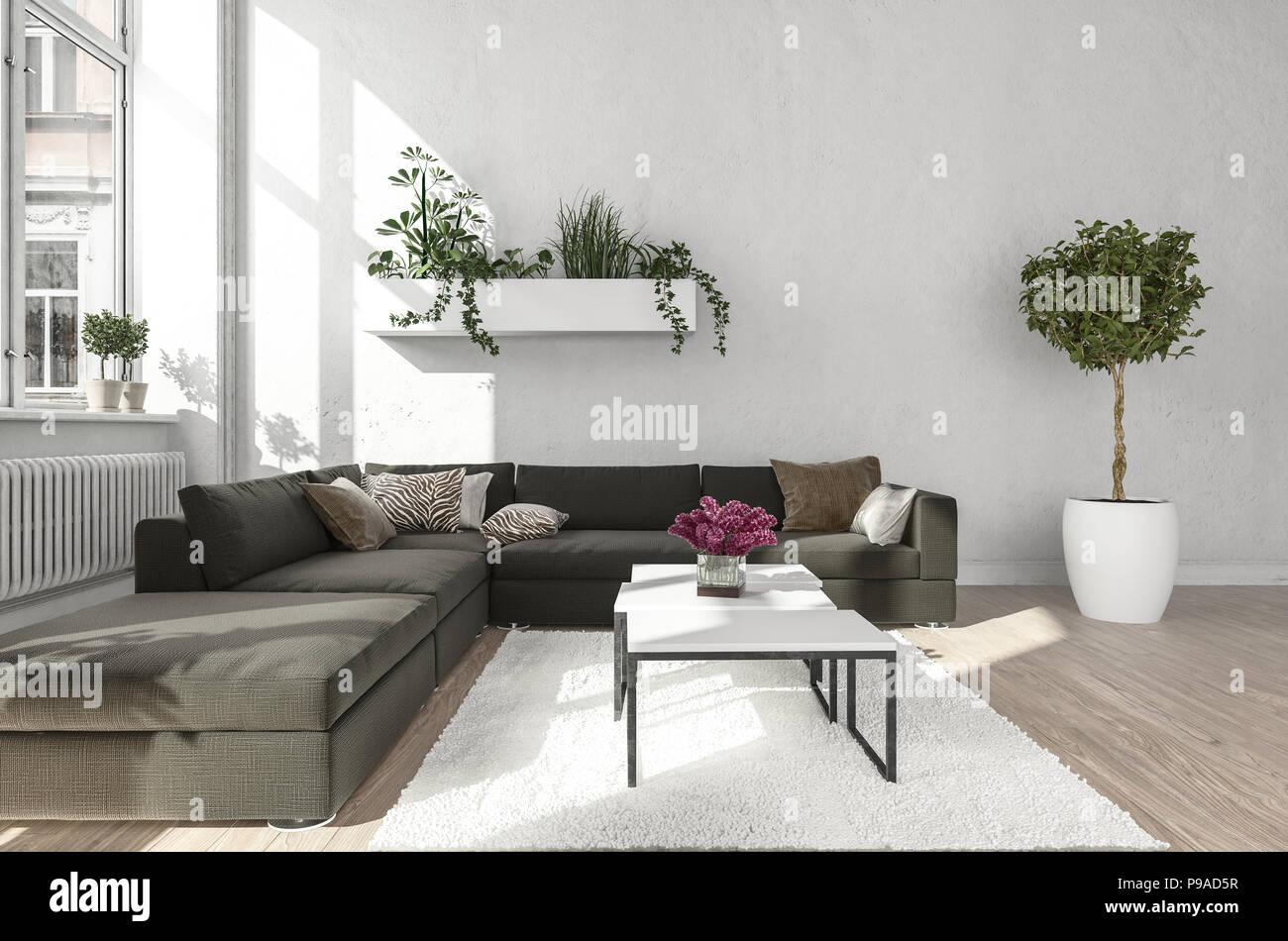 Divano Nero E Bianco : Idee soggiorno con divano nero divani pelle e stoffa avec divano