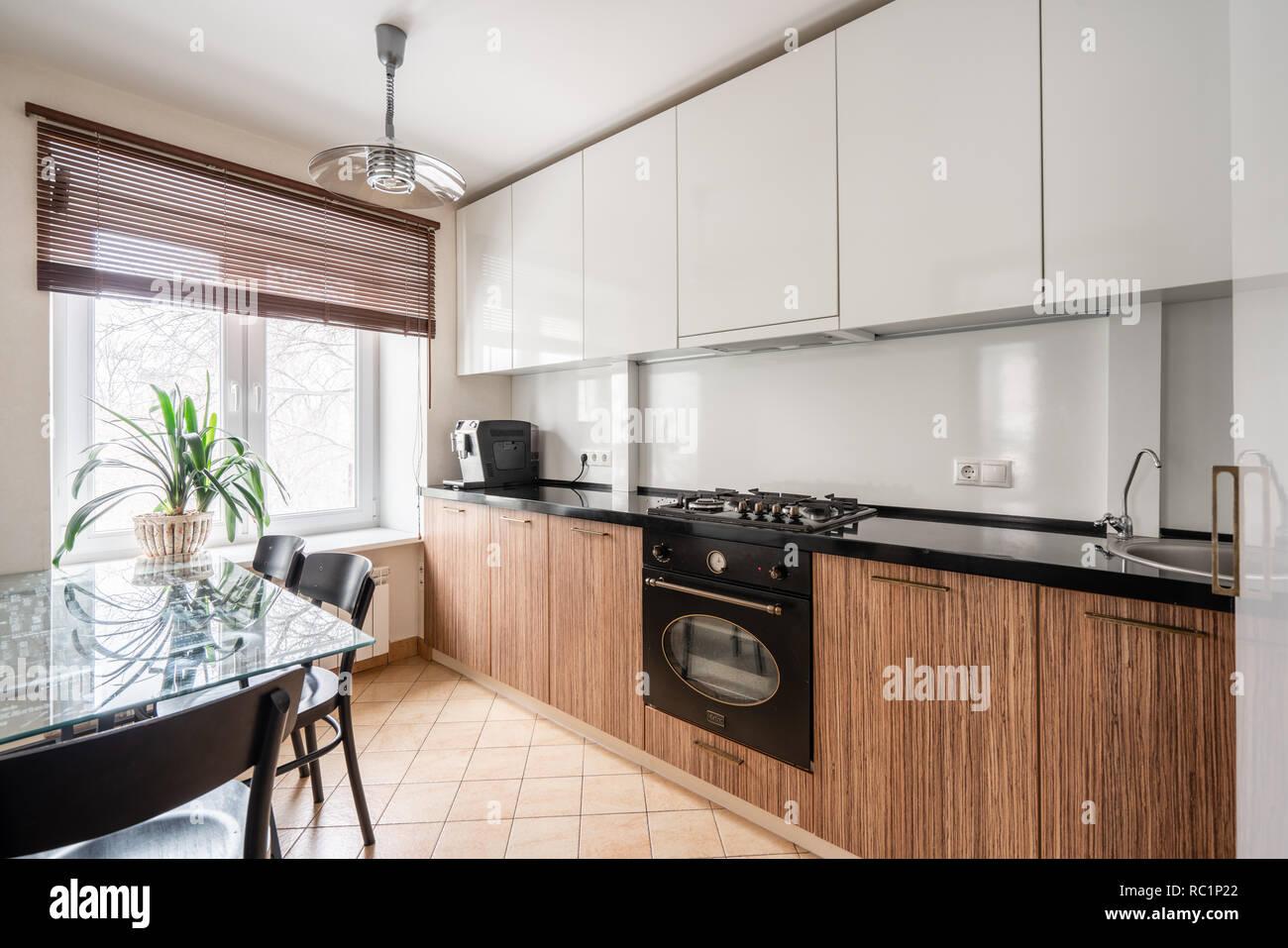 Cucina Bianca E Weng  | Cucina Laccata Bianca E Legno