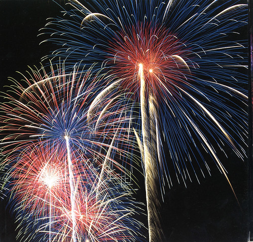 3d Wallpaper Red Blue Epic Fireworks Stars In The Sky Firework Rocket Effects Fo