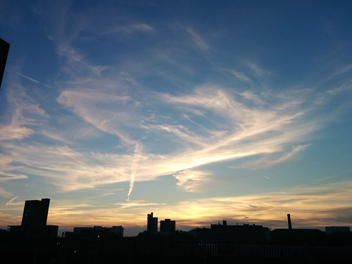 Skies above Manchester