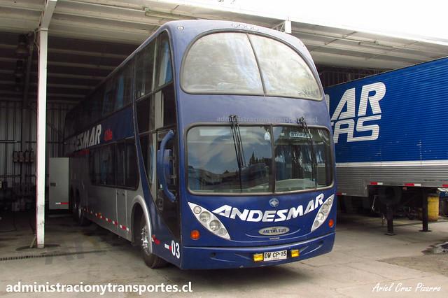 Andesmar Chile 03 | Santiago, Chile | Metalsur Starbus 1 - Mercedes Benz / DWCP15