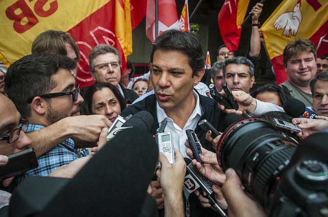 Refundadores do PT querem Fernando Haddad na presidência do partido, foto de Fernando Haddad.