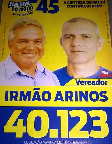 Palanque. Irmão Arinos, do PSDB, Mojuí dos Campos, candidato a vereador 2016, em Juruti