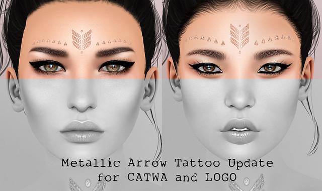 Metallic Arrow Tattoo Update (for Catwa and LOGO)