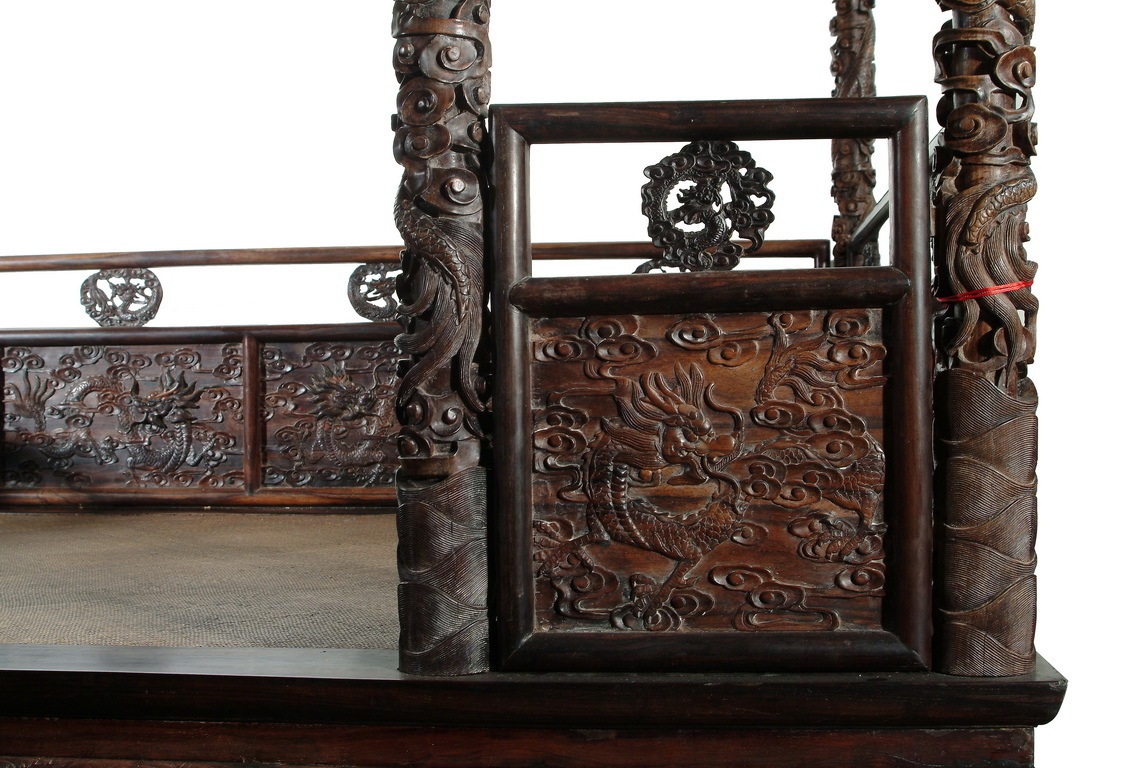 Japanese Canopy Bed A Rare Chinese Zitan Carved Canopy Bed