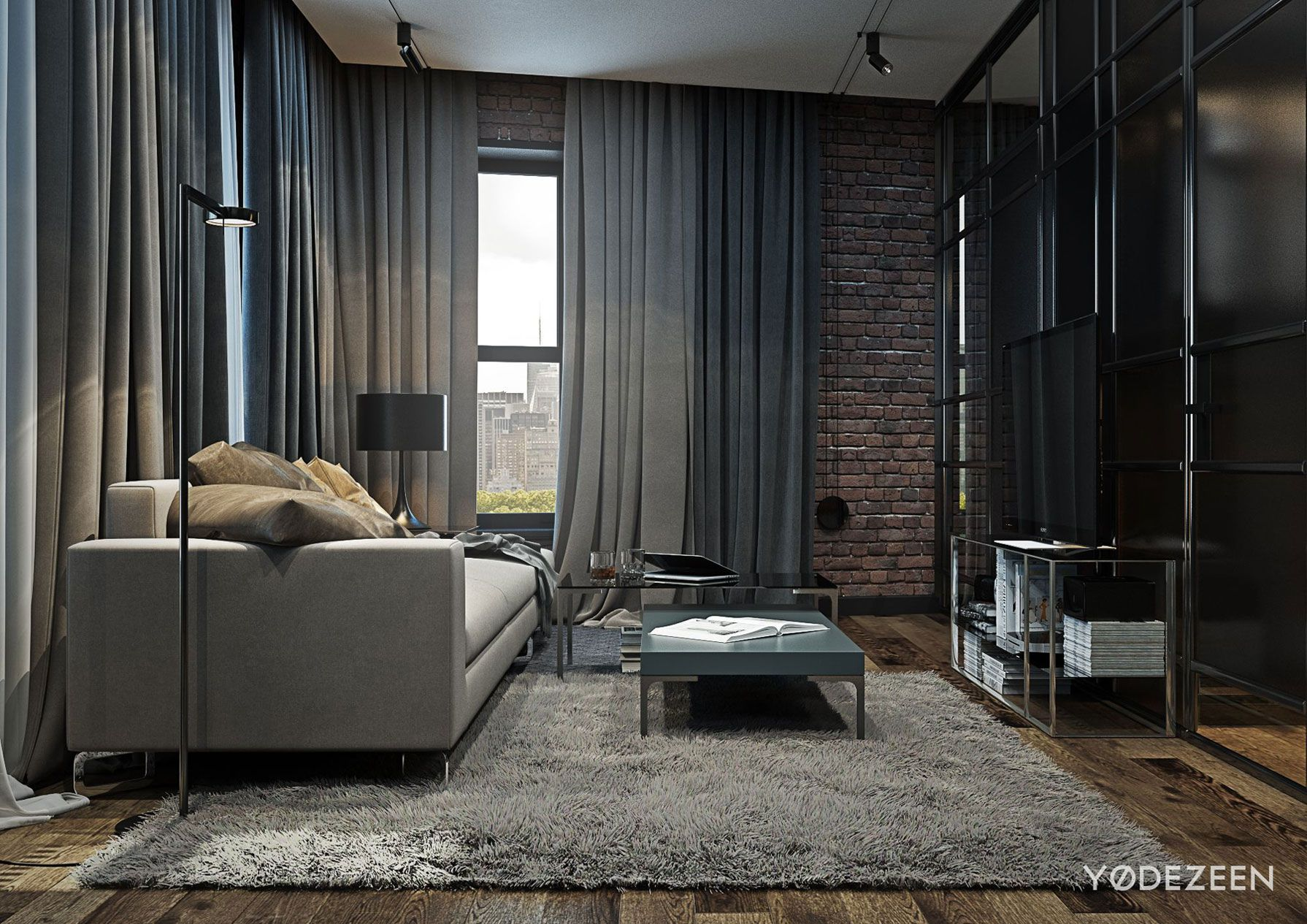 Sitzbank Industrial Loft Apartment In Brooklyn By Yodezeen - Caandesign