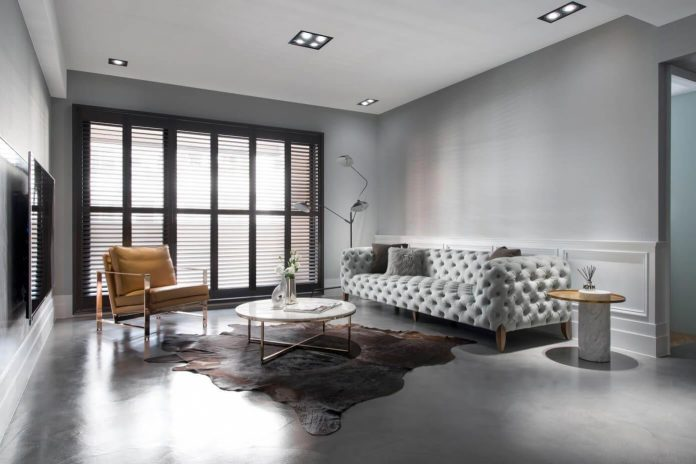 Chique Woonkamer Old Apartment In Taichung City Gets An American Style