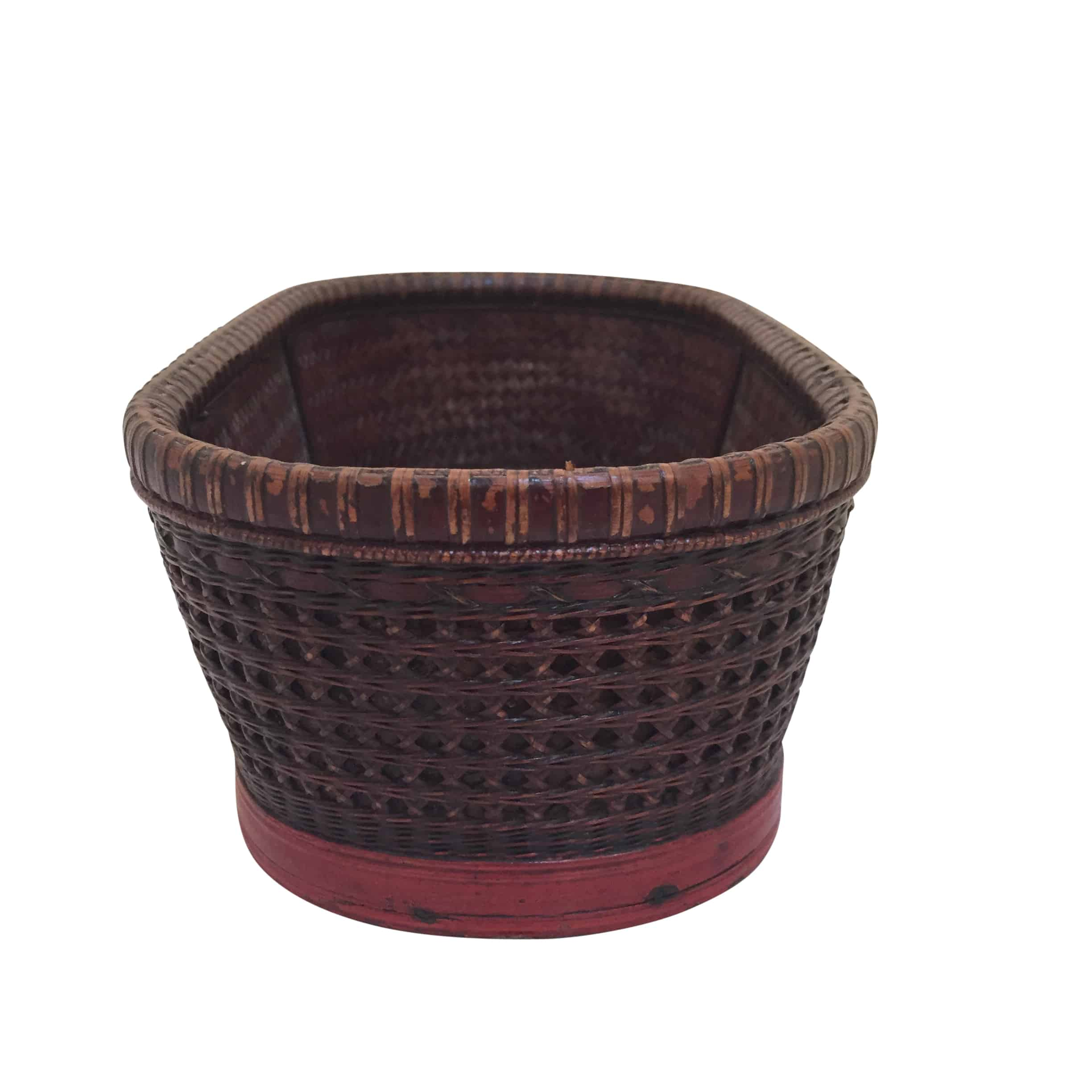 Woven Baskets Antique Woven Basket Cabana Home