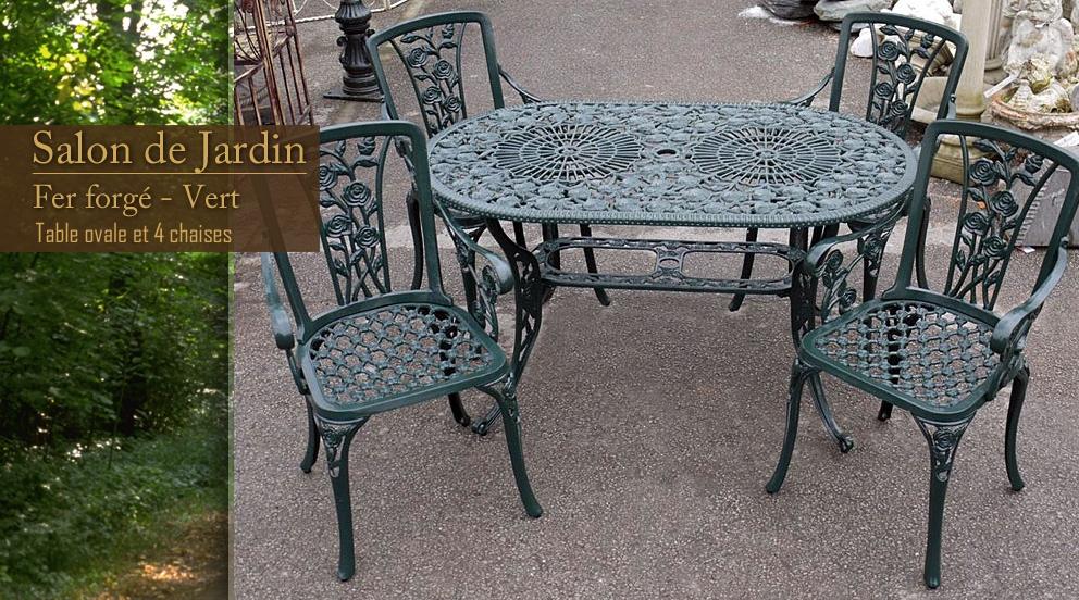Salon De Jardin Romantique En Fer Forgé