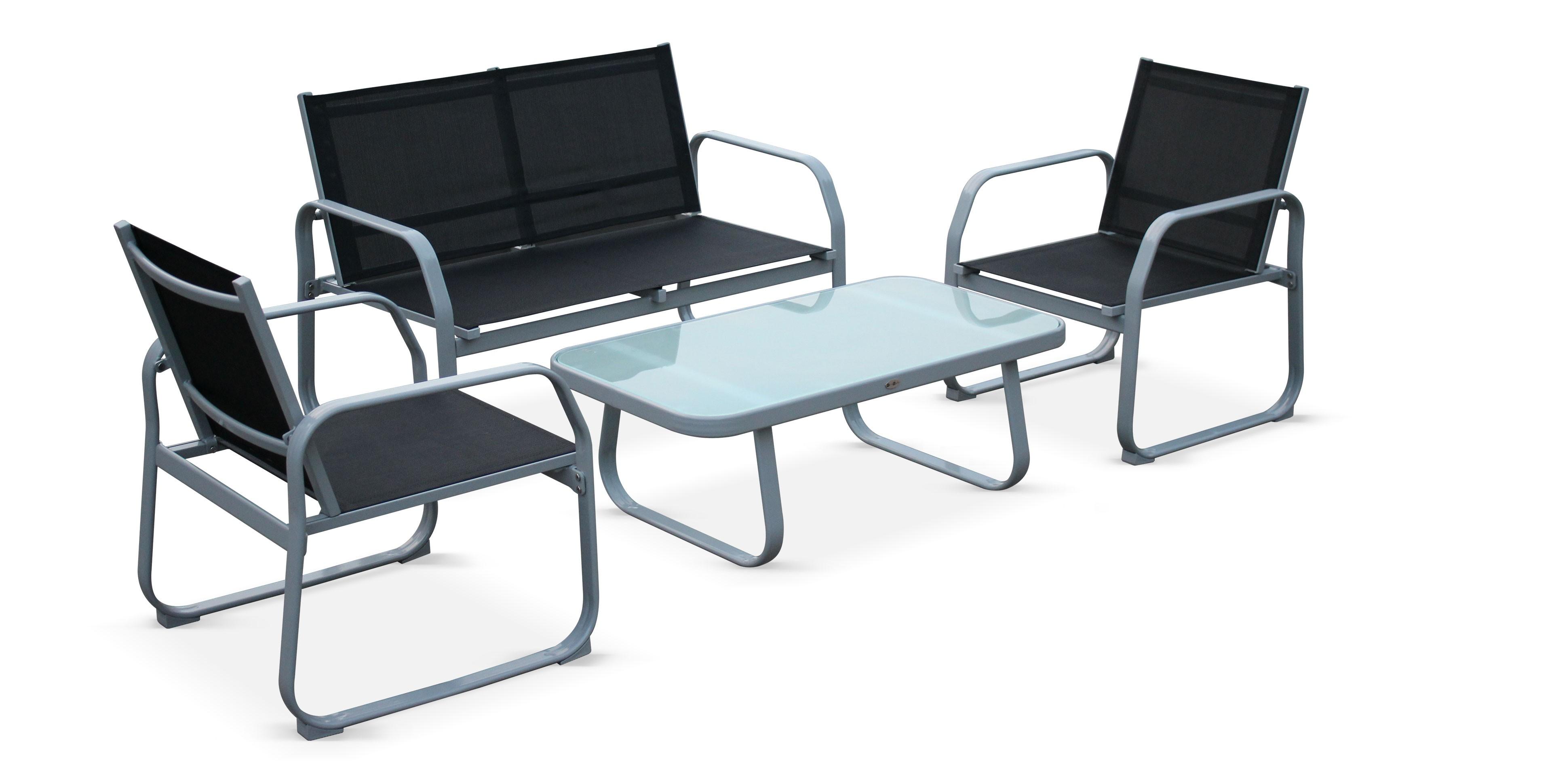 Salon Jardin Textilene | Exceptionnel Table Jardin Aluminium ...