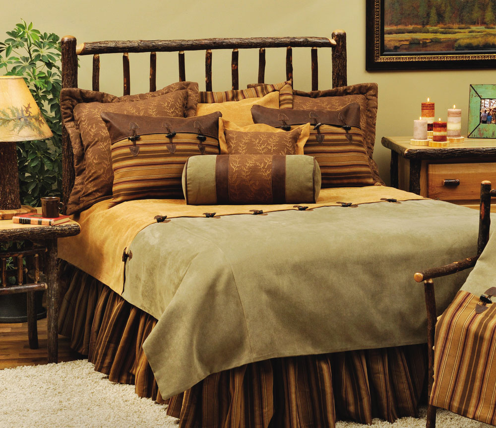 Tan Duvet Cover King Rustic Cabin Furnishings Luxury Bedding