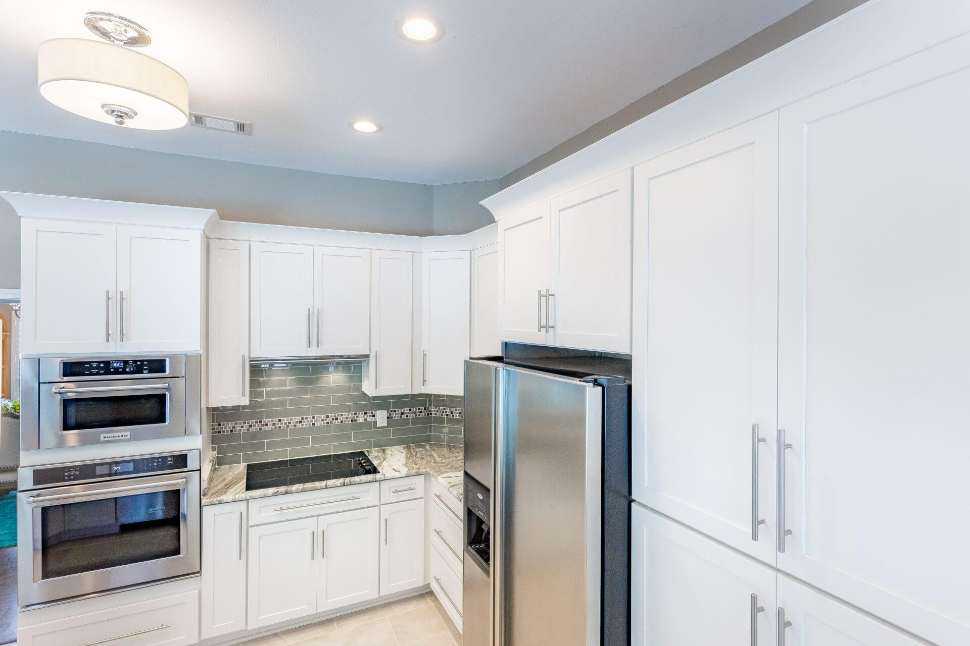 Contemporary Crown Molding For Kitchen Cabinets Custom Kitchen And Bathroom Cabinets In Pensacola Florida