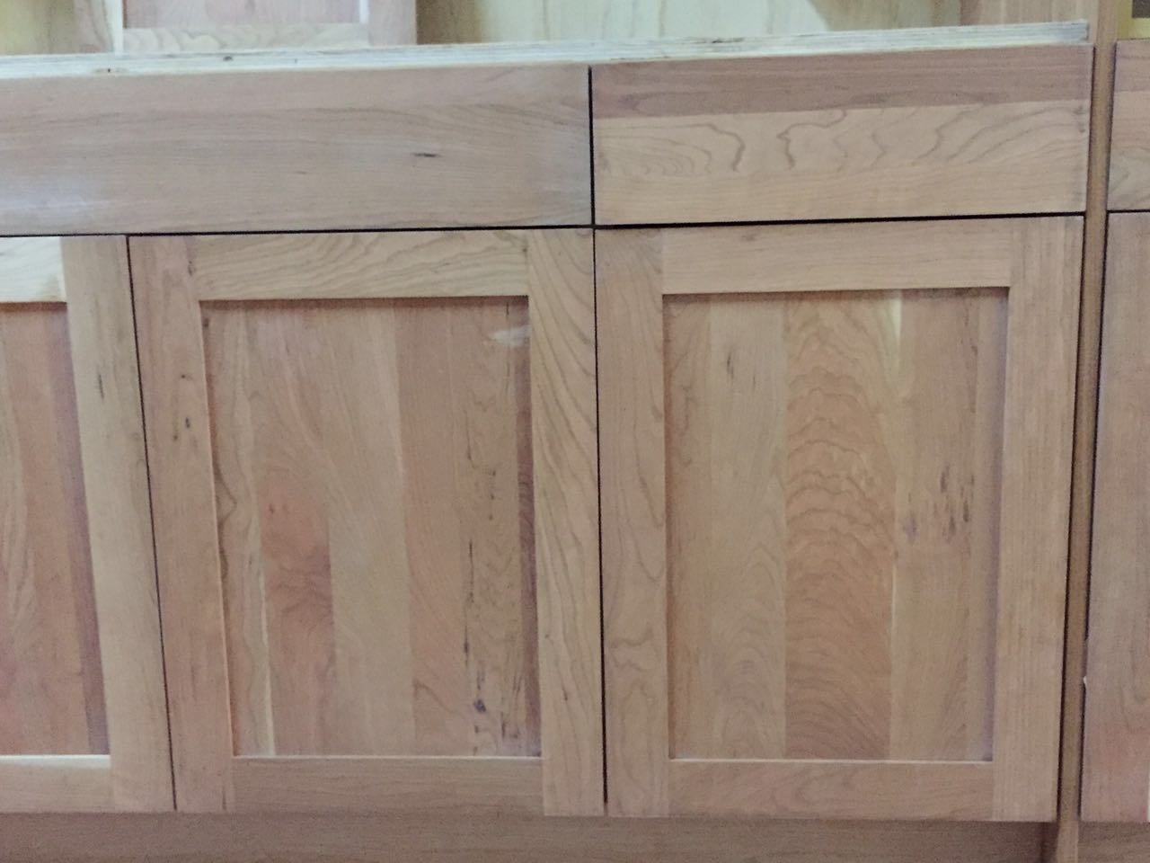 Staining Unfinished Kitchen Cabinets Unfinished Natural American Cherry Shaker Kitchen Cabinets