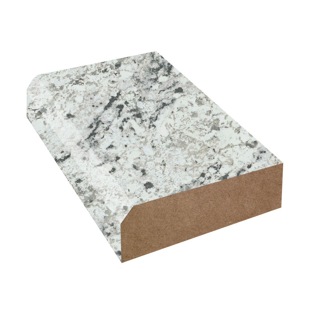 White Ice Granite Matte Bevel Edge Laminate Trim Formica
