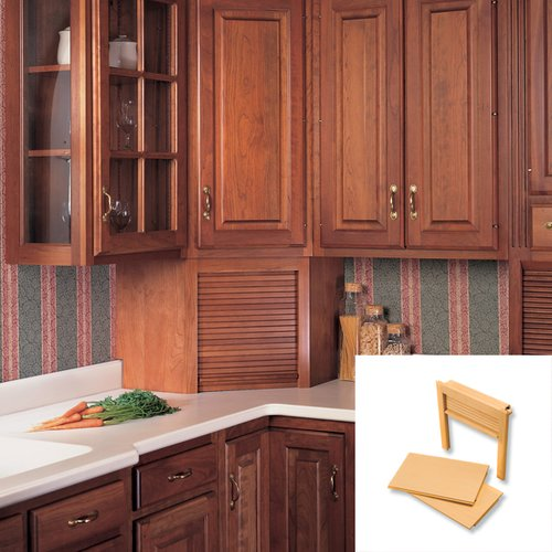 "National Lumber Kitchen Cabinets Omega National Products 24"" Corner Appliance Garage"