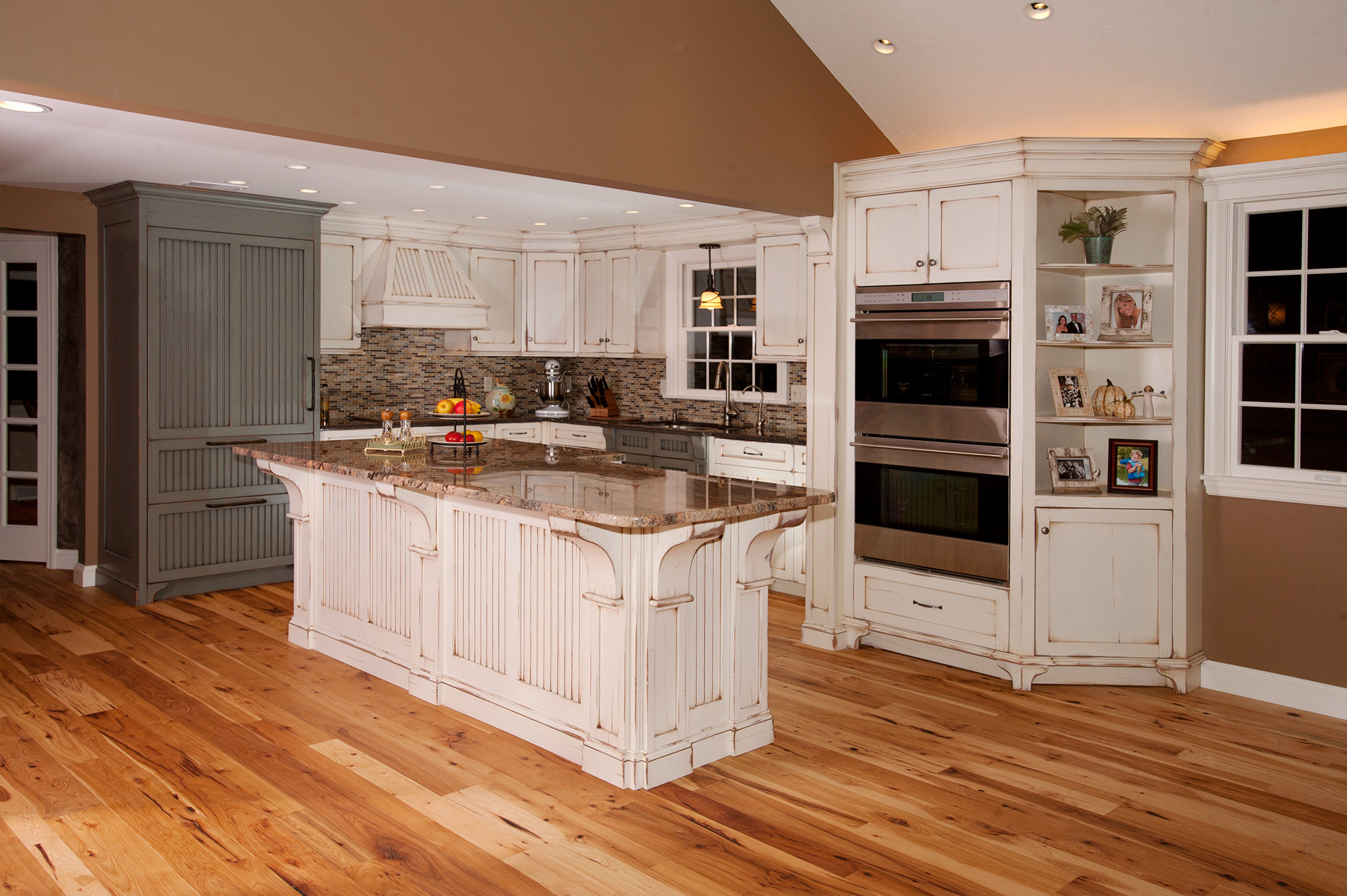 Faux Kitchen Cabinet Doors Distressed Kitchen With Island - Custom Cabinetry By Ken Leech