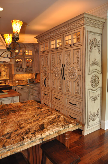 Kitchen Pantry Cabinet French Country Inspired Rococo Kitchen - Cabinets By Graber