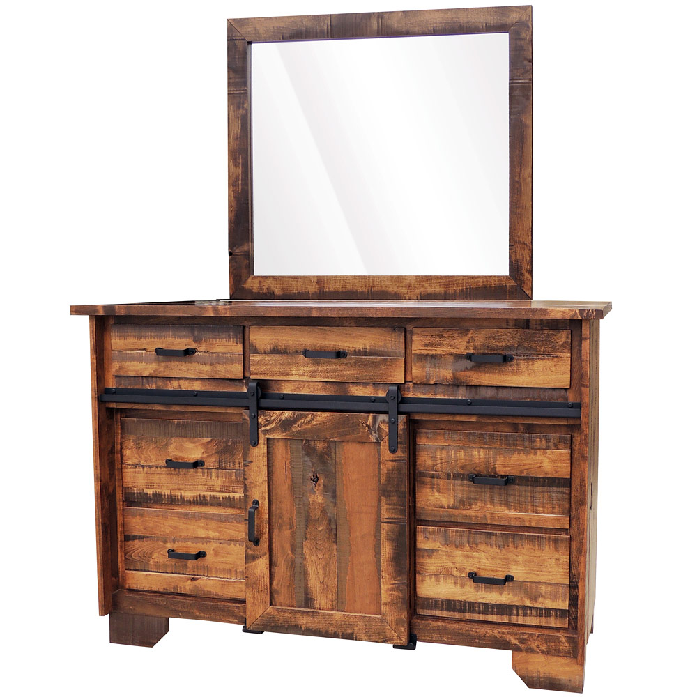 Timberline Amish Dresser With Mirror Option Farmhouse Cabinfield Fine Furniture