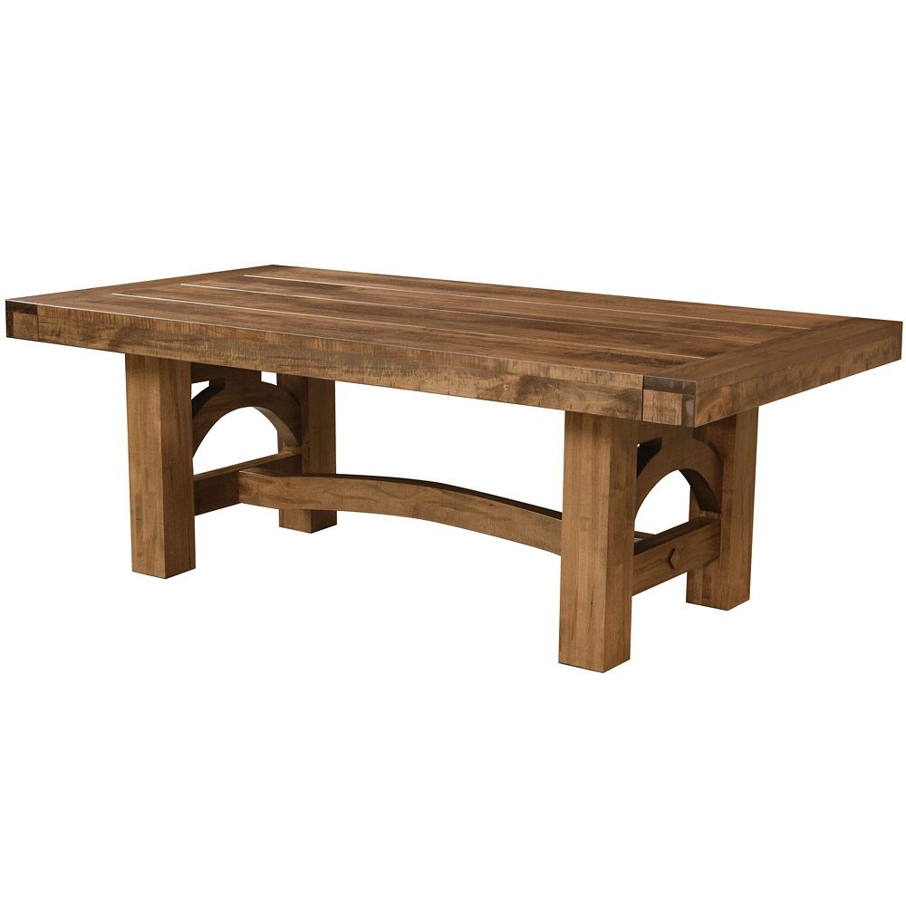 Oregon Amish Dining Table - Amish Rustic Furniture | Cabinfield Fine Furniture