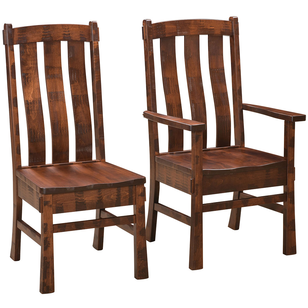 Huron Amish Dining Chairs Amish Rustic Furniture Cabinfield Fine Furniture