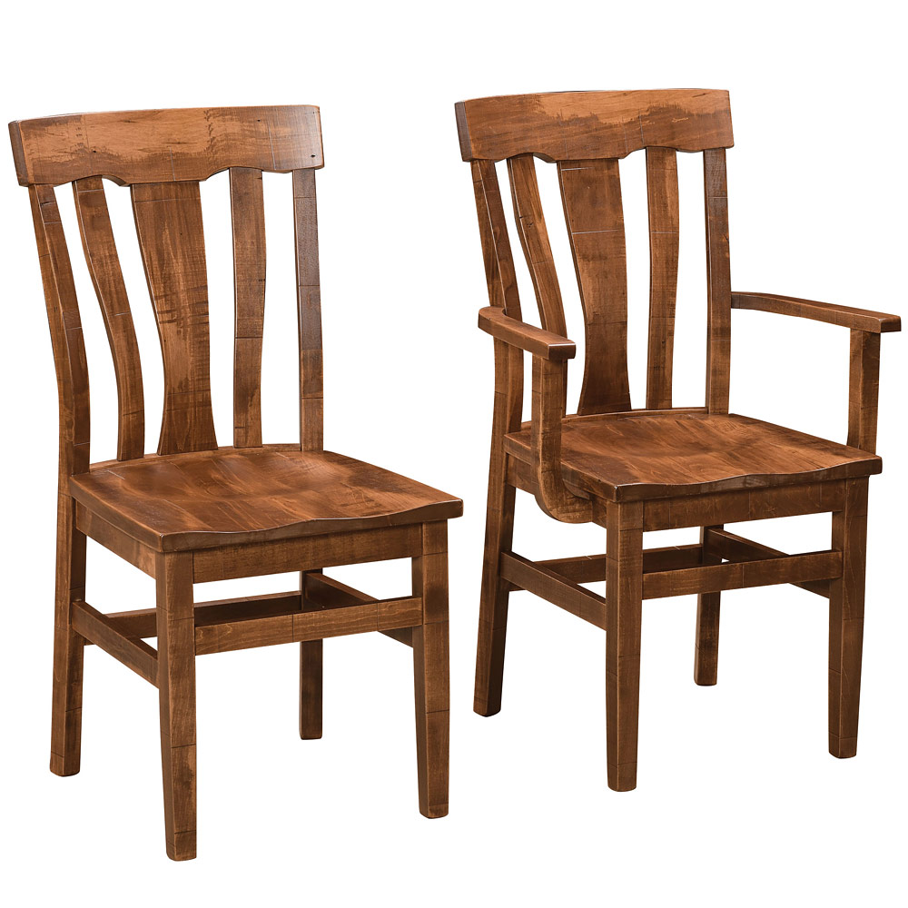 Alden Amish Dining Chairs Amish Rustic Furniture Cabinfield Fine Furniture