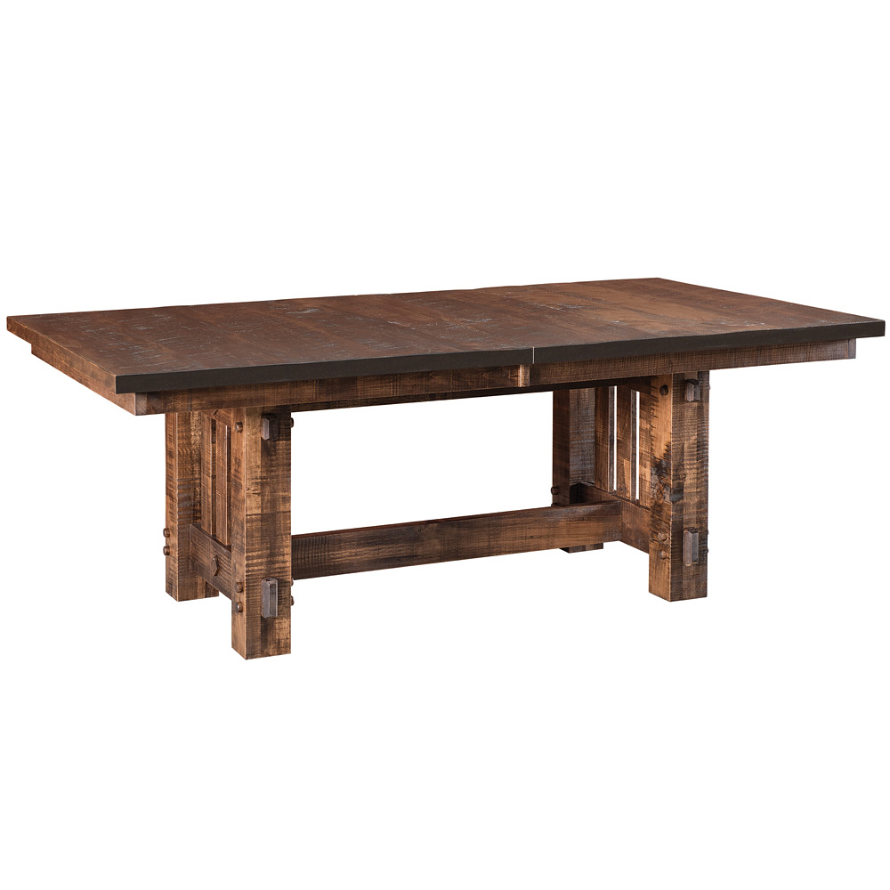 El Paso Amish Dining Table Amish Rustic Furniture Cabinfield Fine Furniture