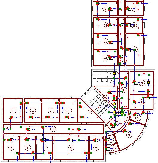 Network Diagram Software for electric, network, fire alarm