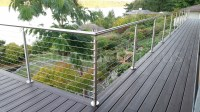 Ryan - WA - Modern Stainless Steel Cable and Glass Railing ...
