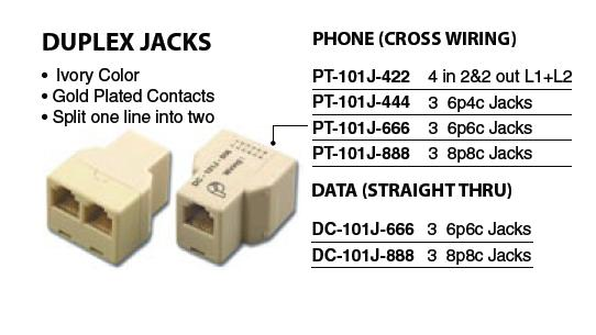 Telephone Connectors  Adapters - 02300-02
