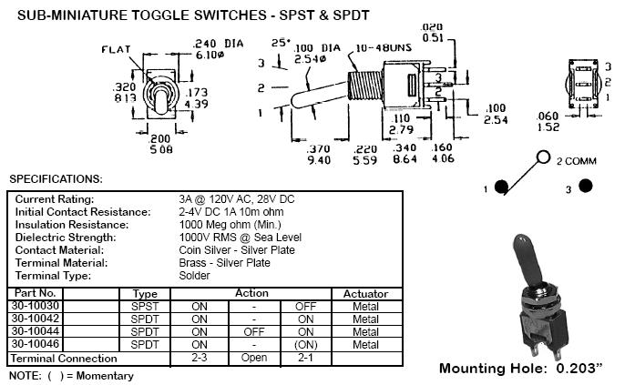 miniature toggle switch dpdt onoffon