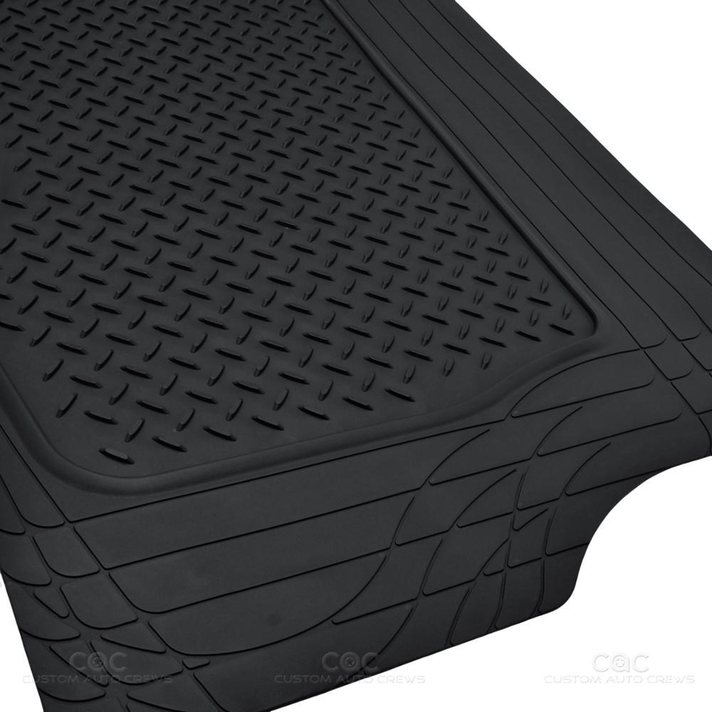 Motortrend Deep Dish Rubber Floor Mats Cargo Set Black