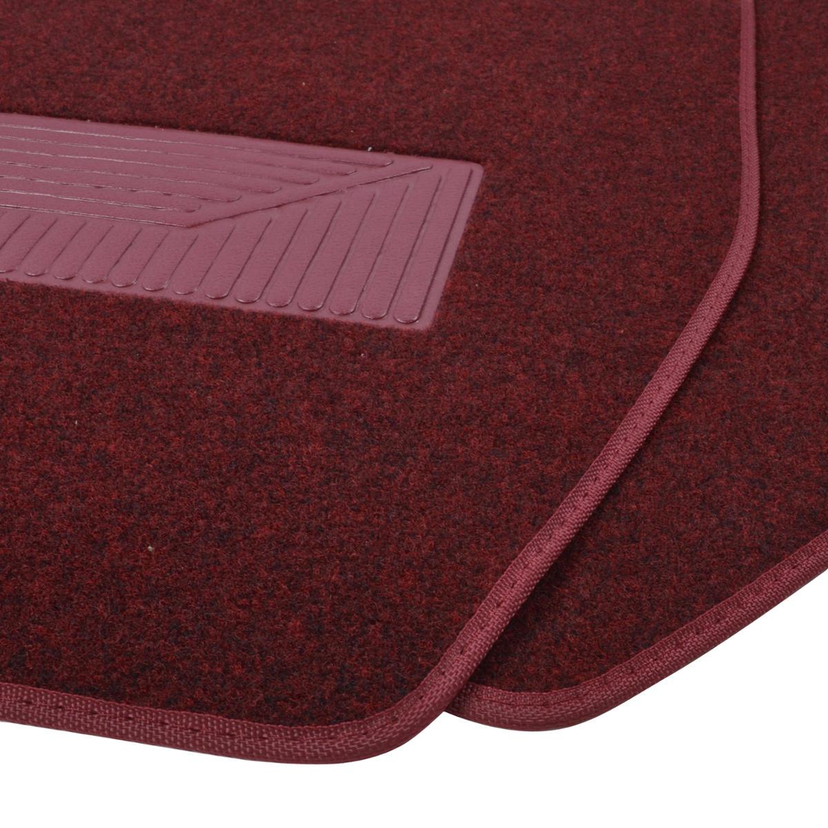 3pc Set Burgundy Heavy Duty Carpet Suv Van Pickup Car