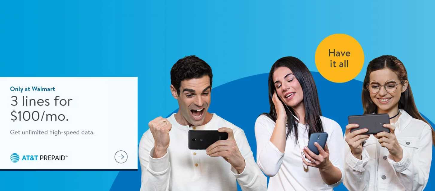 Go Business Mobile Plan $65 At T Prepaid Offering 3 Unlimited Lines For 100 Only At Walmart