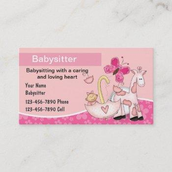 Babysitting Business Cards Business Cards 100